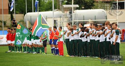 Photo: IRB Tbilisi Cup 2013. Emerging Ireland vs SA Presidents XV. Photo by Tamuna Kulumbegashvili