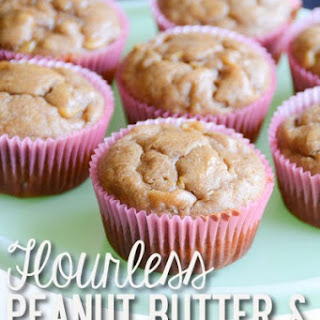 Flourless Peanut Butter & Banana Muffins.