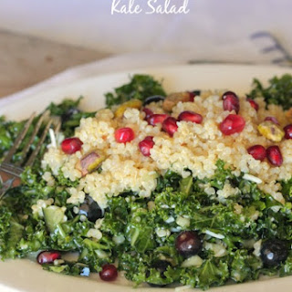 Blueberry Pomegranate Quinoa Kale Salad.