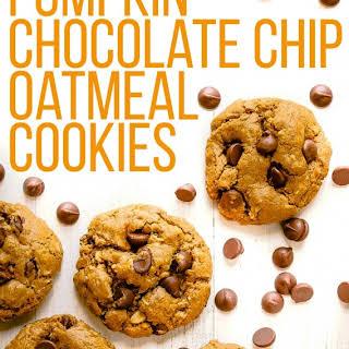 Pumpkin Chocolate Chip Oatmeal Cookies.
