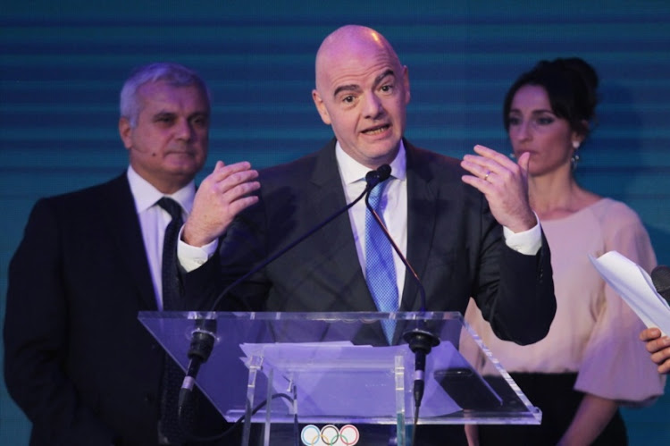 FIFA President Gianni Infantino attends the Italian Olympic Committee 'Collari D'Oro' Awards at Foro Italico on December 19, 2017 in Rome, Italy.