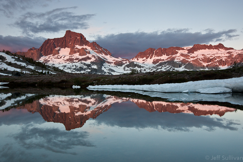 Photo: Mt. Ritter reflection at dawn in a lake in the Ansel Adams Wilderness