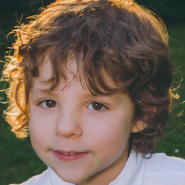 Backlit by Chris Cavallo - Babies & Children Child Portraits ( tie, golden hour, sunset, curly hair, brown eyes, boy, backlit )