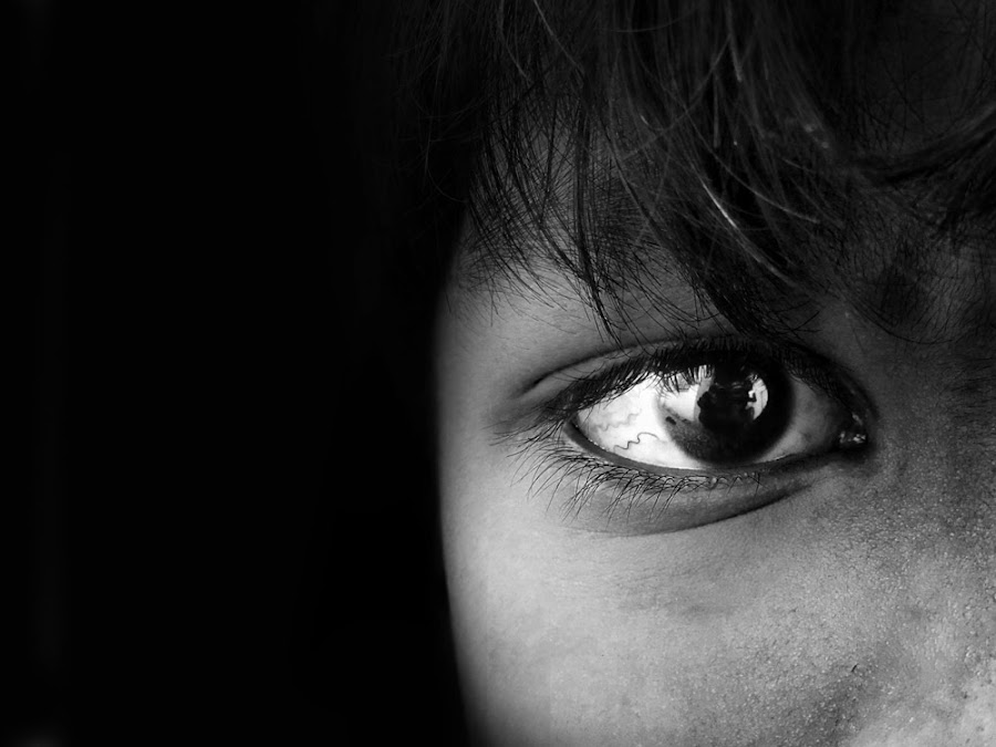 agression in my eyes by Siddharth Jain - Babies & Children Child Portraits ( child, potrait, bw, poor, boy, eyes )