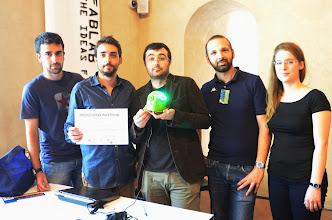 Photo: Stefano Puzzuoli Il team vincitore dell'hackaton R.I.O.T. Vudoo vs. Face