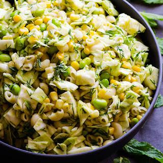 Vegan Coleslaw Macaroni Salad