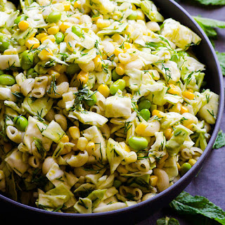 Vegan Coleslaw Macaroni Salad.