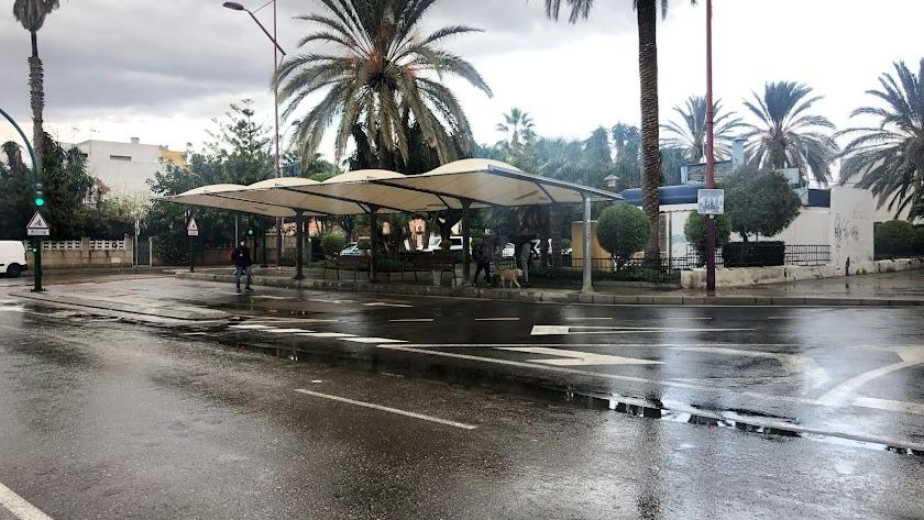 Parada de taxis de la Avenida de Cabo de Gata.