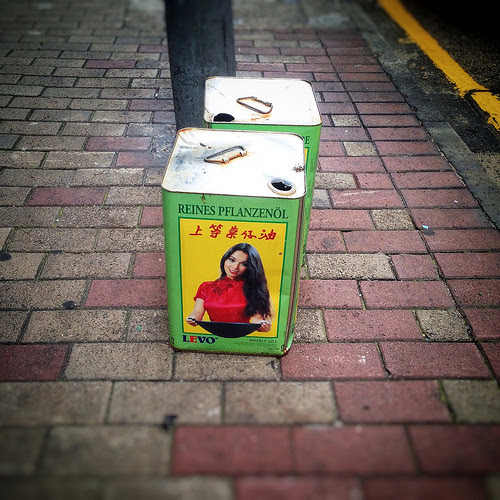 Discarded, Cooking Oil, Canister, can, trans fat, 食油罐, hong kong, vegetable oil