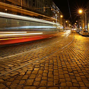 Night Street - I. by Drahomír Škubna - City,  Street & Park  Night