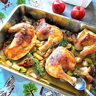 What's for Dinner? Chicken w/ Apples & Leeks