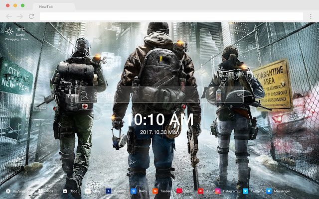 Tom clancy's The Division game HD Themes
