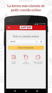 JUST EAT - Comida a domicilio screenshot 00