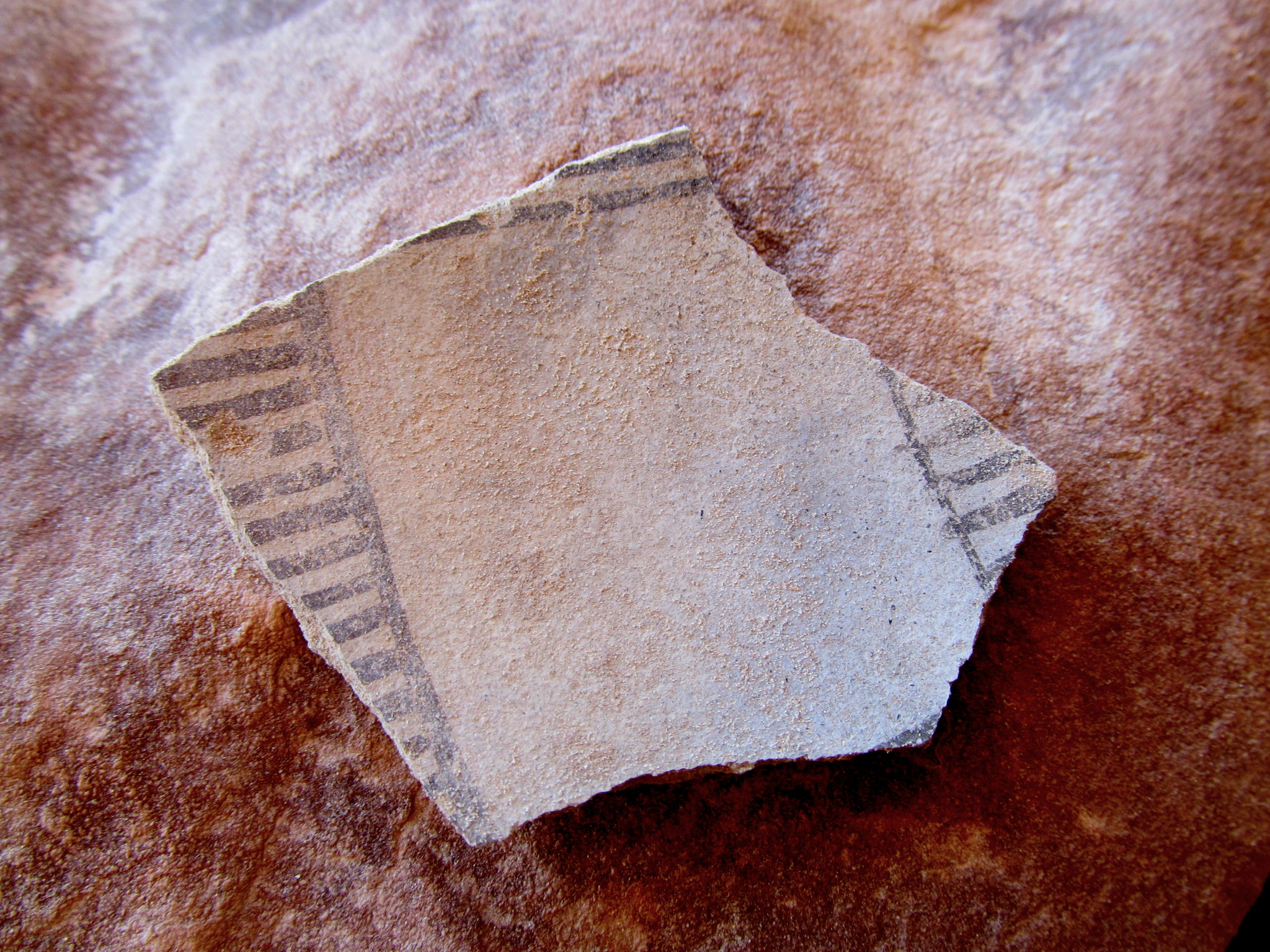 Photo: Large, decorated potsherd