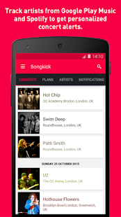 Songkick Concerts Screenshot 2
