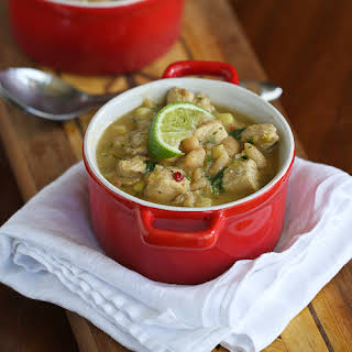 Smoky White Chicken Chili with Corn & White Beans {Gluten-Free}.