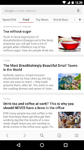 Opera browser beta- screenshot thumbnail