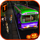 Halloween Party Bus Driver 3D