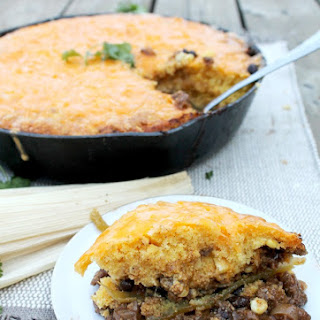 Salsa Verde Tamale Pie (One Skillet)