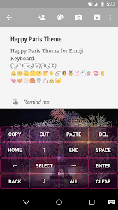 Happy Paris Emoji Keyboard screenshot 2
