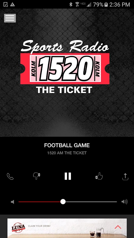 1520 The Ticket - Rochester Sports Radio (KOLM)- screenshot