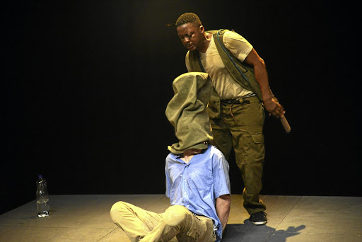 Soldiering on: When Swallows Cry, featuring actors Christiaan Schoombie, Mpho Osei-Tutu and Warren Masemola, explores the effects of migration from an African perspective. Picture: SUZY BERNSTEIN