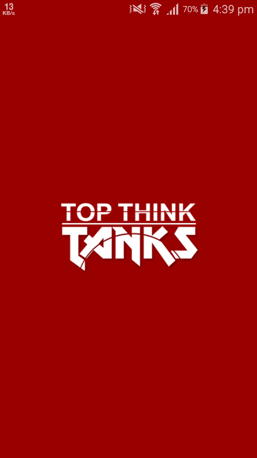 Top Think Tanks- screenshot