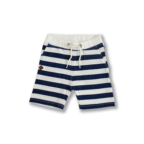 Osvald - Striped sweat shorts for kids