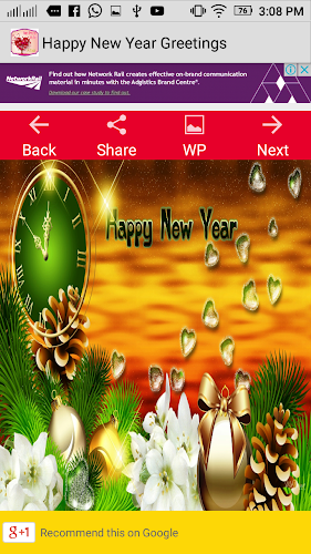 happy new year greeting 2018new year greeting android app screenshot