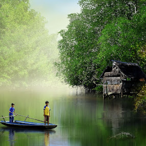 Morning Painting by Ahay Gart - Digital Art Places