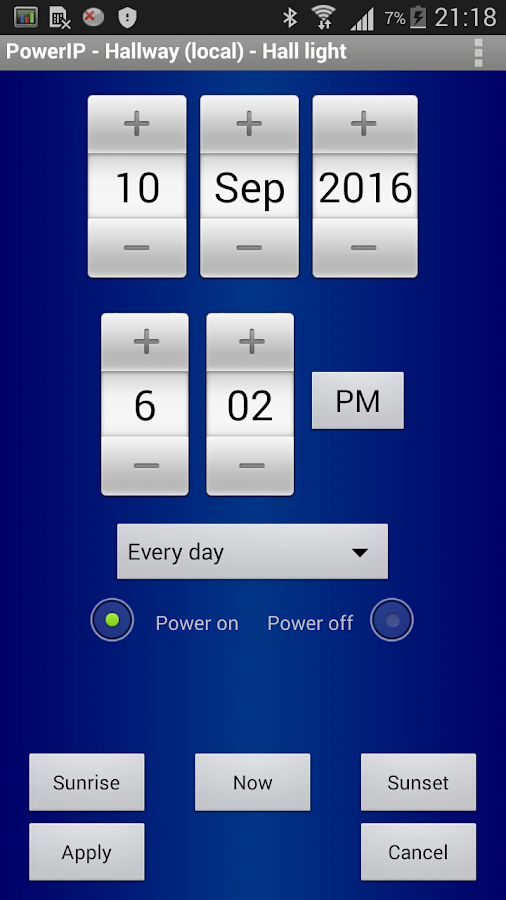 PowerIP (for Aviosys IP Power)- screenshot