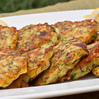 Zucchini Fritters with Feta and Dill.