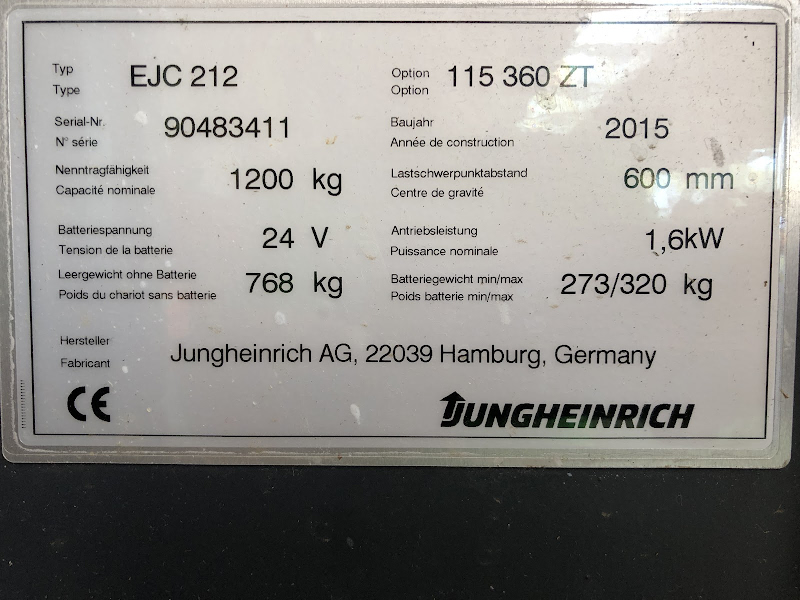 Picture of a JUNGHEINRICH EJC 212