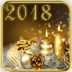 2018 & Gold Christmas Theme Icon