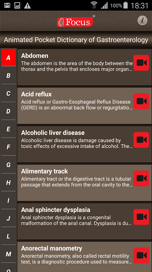 Gastroenterology-Medical Dict.- screenshot
