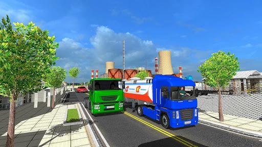 Big Oil Tanker Truck US Oil Tanker Driving Sim screenshots 2