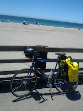 Photo: Fully loaded bike when I first made it to the coast