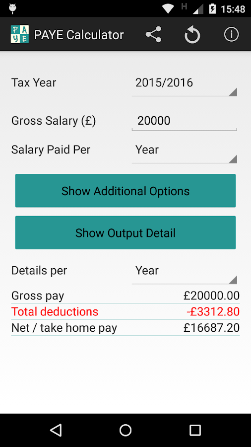 UK PAYE Tax and NI Calculator Android Apps on Google Play – Net Pay Calculator