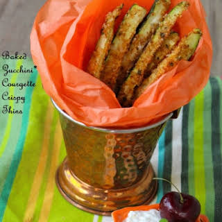 Baked Zucchini* Courgette Crispy Thins.