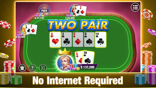 Texas Holdem Poker Offline:Free Texas Poker Games 1.5.2 Mod screenshots 2
