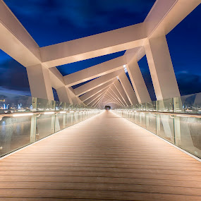 Dubai Canal Foot Bridge by Ricky Pagador - Buildings & Architecture Bridges & Suspended Structures ( park, street, architecture, spiral, bridge )