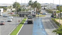 Desarrollo de las obras entre COPO y Hospital de Poniente y la rotonda hacia Almerimar.