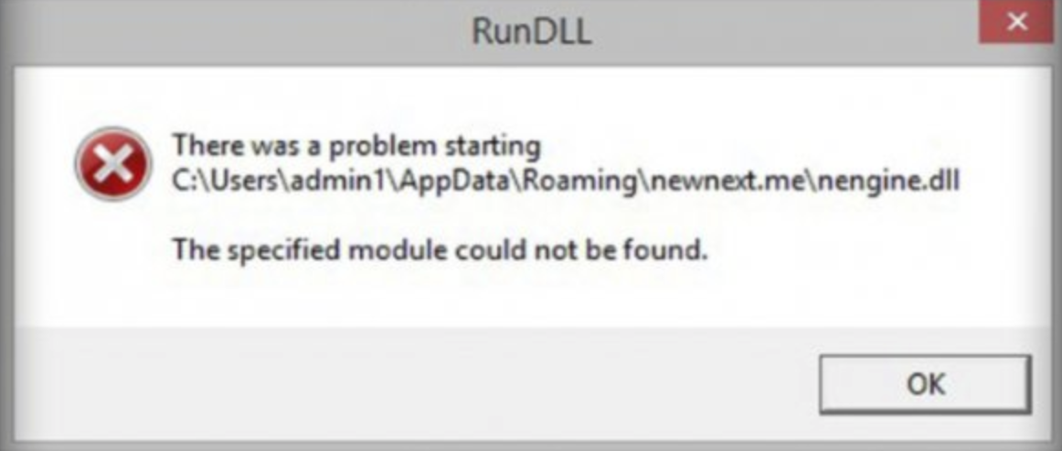 "[Solved] How to Fix RunDLL Error ""There was a problem starting"" ""The specified module could not be found"""