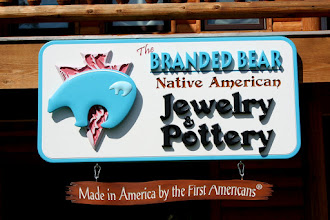Photo: Custom Sign for Branded Bear Pottery & Jewlery in Oklahoma Wood Sign Prices Here... http://nicecarvings.com/3d-sign-quote-form