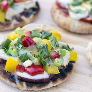 Easy Grilled Pita Bread Pizzas