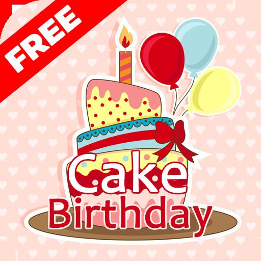快樂生日蛋糕貼紙 生活 LOGO-玩APPs