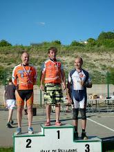 Photo: Bertrand est monté 2 fois sur le podium ce jour là !