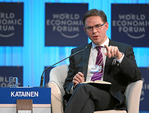 Photo: DAVOS/SWITZERLAND, 26JAN12 - Jyrki Tapani Katainen, Prime Minister of Finland speaks during the session 'Rebuilding Europe' at the Annual Meeting 2012 of the World Economic Forum at the congress centre in Davos, Switzerland, January 26, 2012.  Copyright by World Economic Forum swiss-image.ch/Photo by Moritz Hager