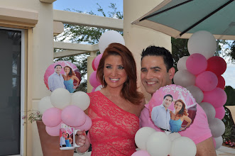 Photo: Mariana y Abel, celebrationg their first anniversary for their show Acceso Total in Telemundo 51. Beautiful Centerpieces by  http://www.BestPartyPlanner.net