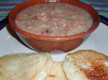 Pressure Cooker Navy Bean Soup With Ham Recipe